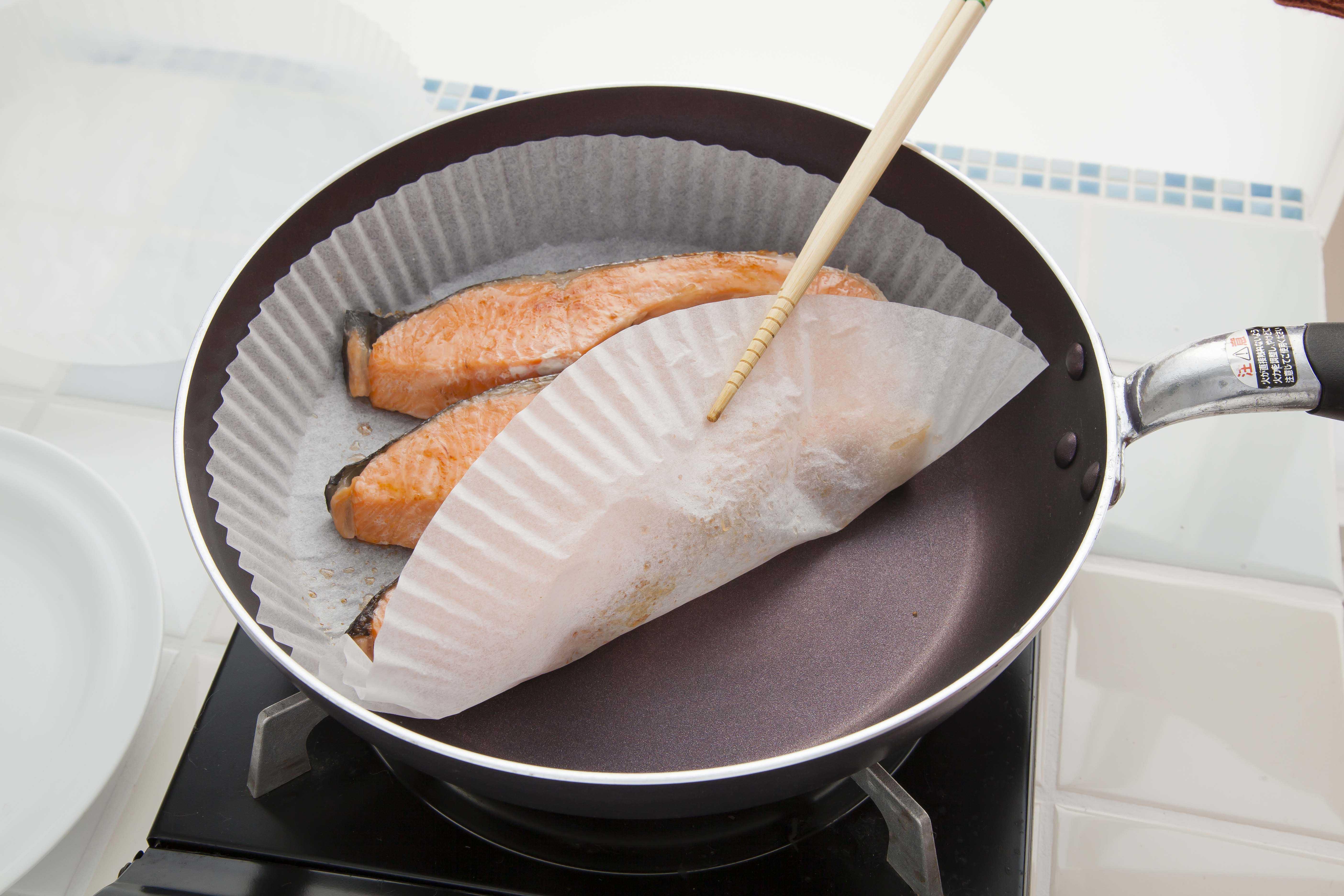 フライパンシート26cm焼き鮭